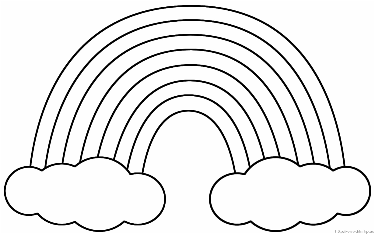 Coloring Page Rainbow 14 Print Color Craft Inside Colors In A