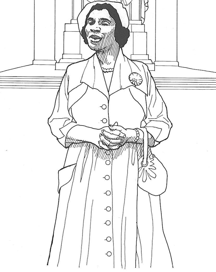 15 Black History Color Pages, Black History Month Coloring Pages
