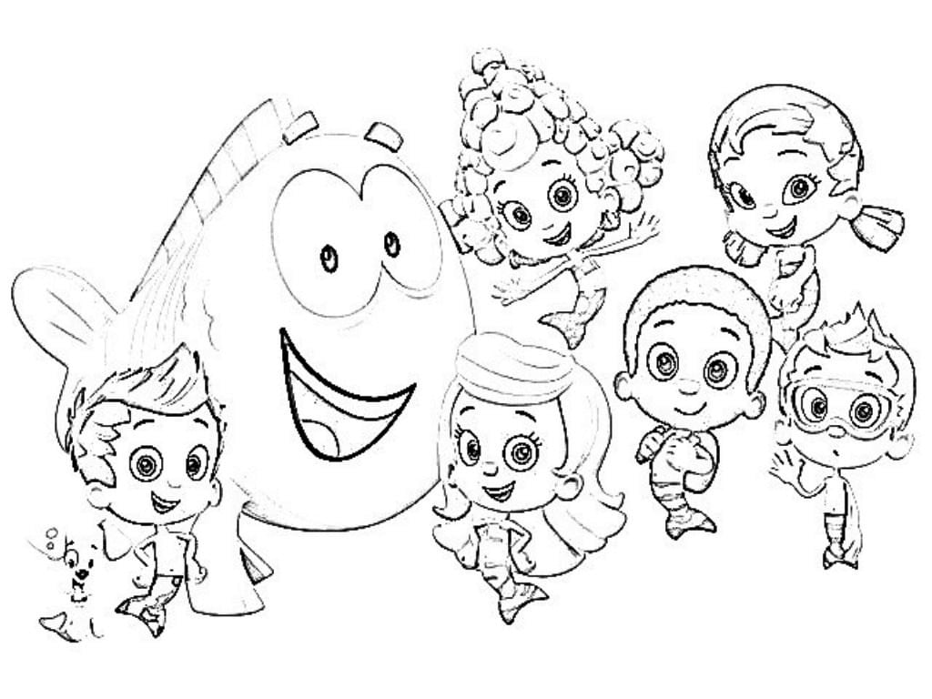 22 Printable Bubble Guppies Coloring Pages, Printable Bubble
