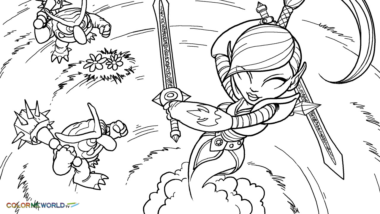 Skylanders Coloring Pages   Free Skylanders Coloring Pages To