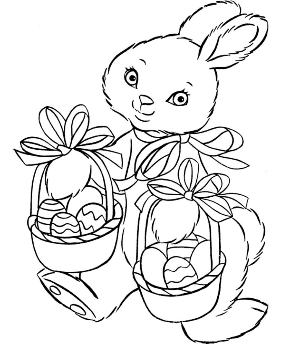 Coloring Pages For Easter Bunny – Color Bros
