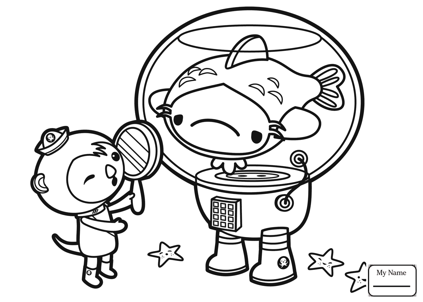 Coloring Pages Octonauts Cartoons Kwazii Shadow Boxing