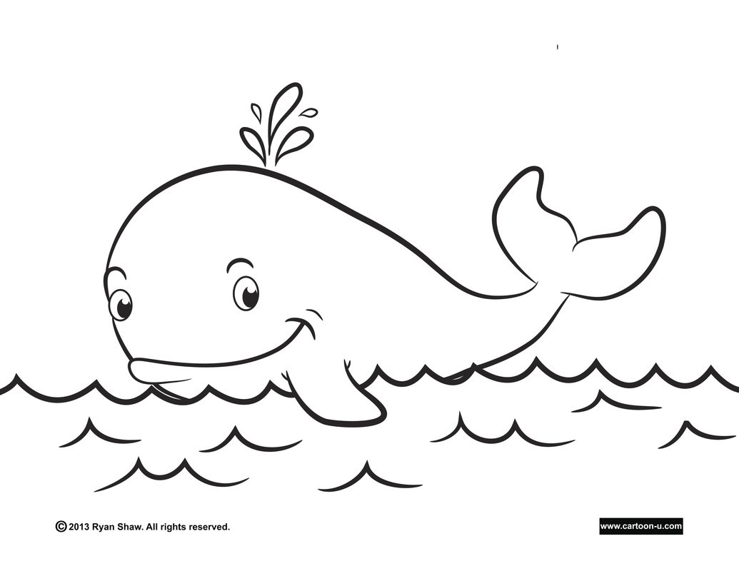 Cute Whale Coloring Pages – Color Bros