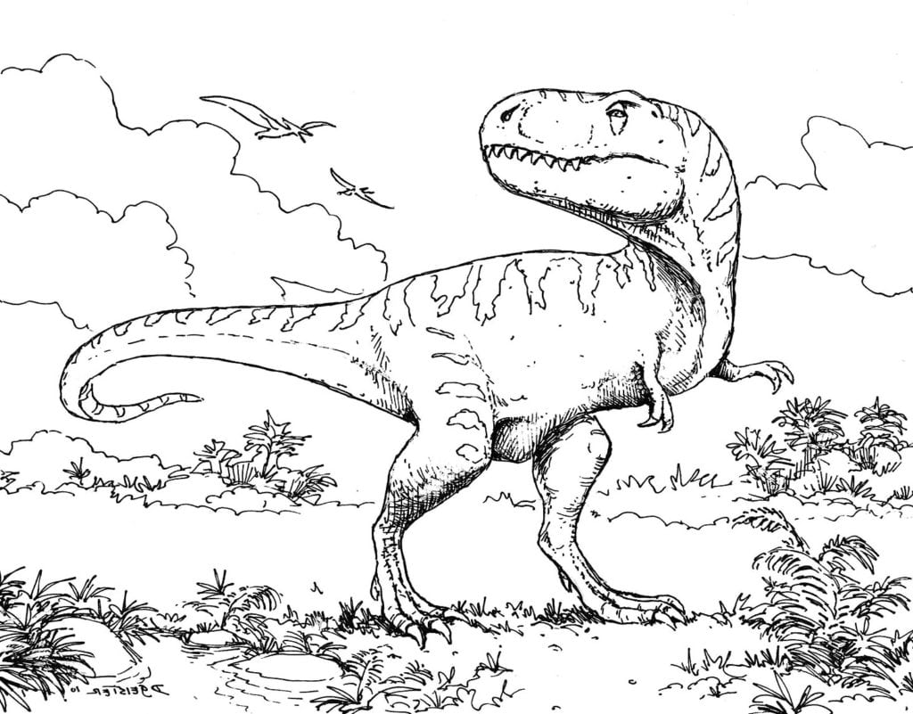 Dinosaur Coloring Pages Free Inside Dinosaurs