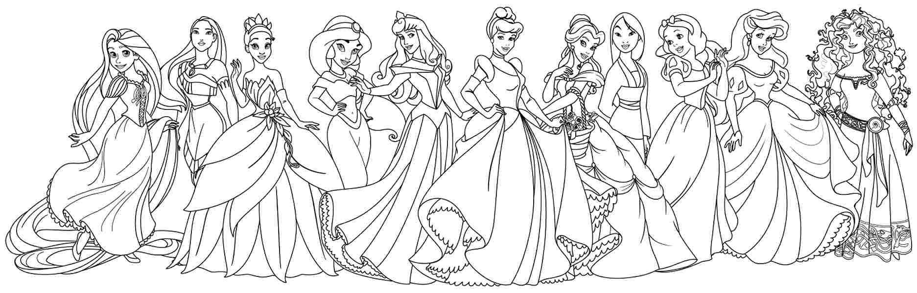 Disney Princess Coloring Pages