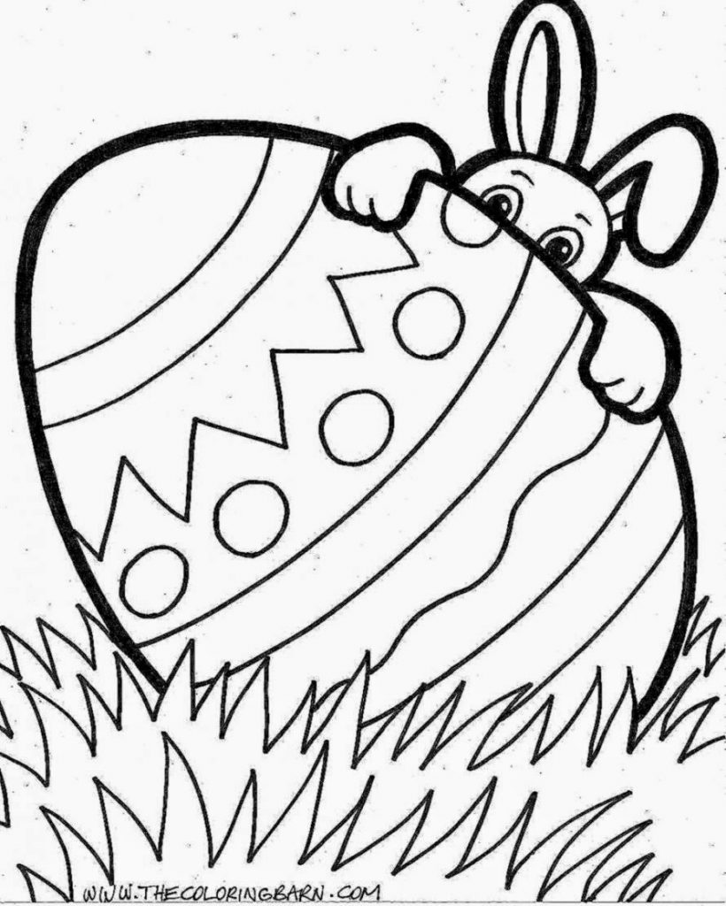Best Download Coloring Pages Easter Bunny Coloring Page A Real