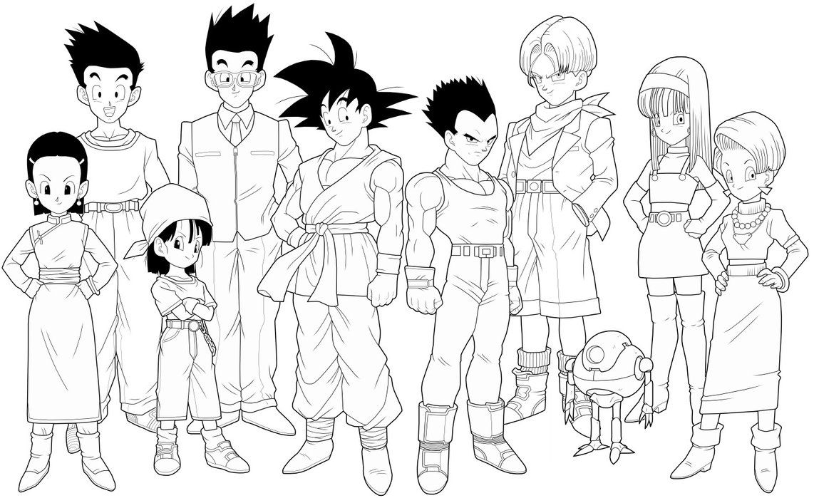 Draw Dragon Ball Gt Coloring Pages 13 About Remodel Free Coloring