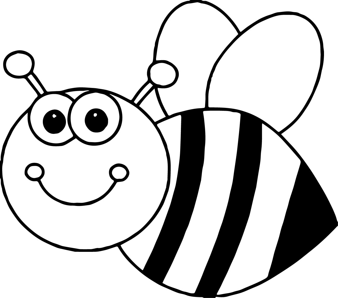 Drawing Bee Coloring Page 22 In For Kids With Bee Coloring Page