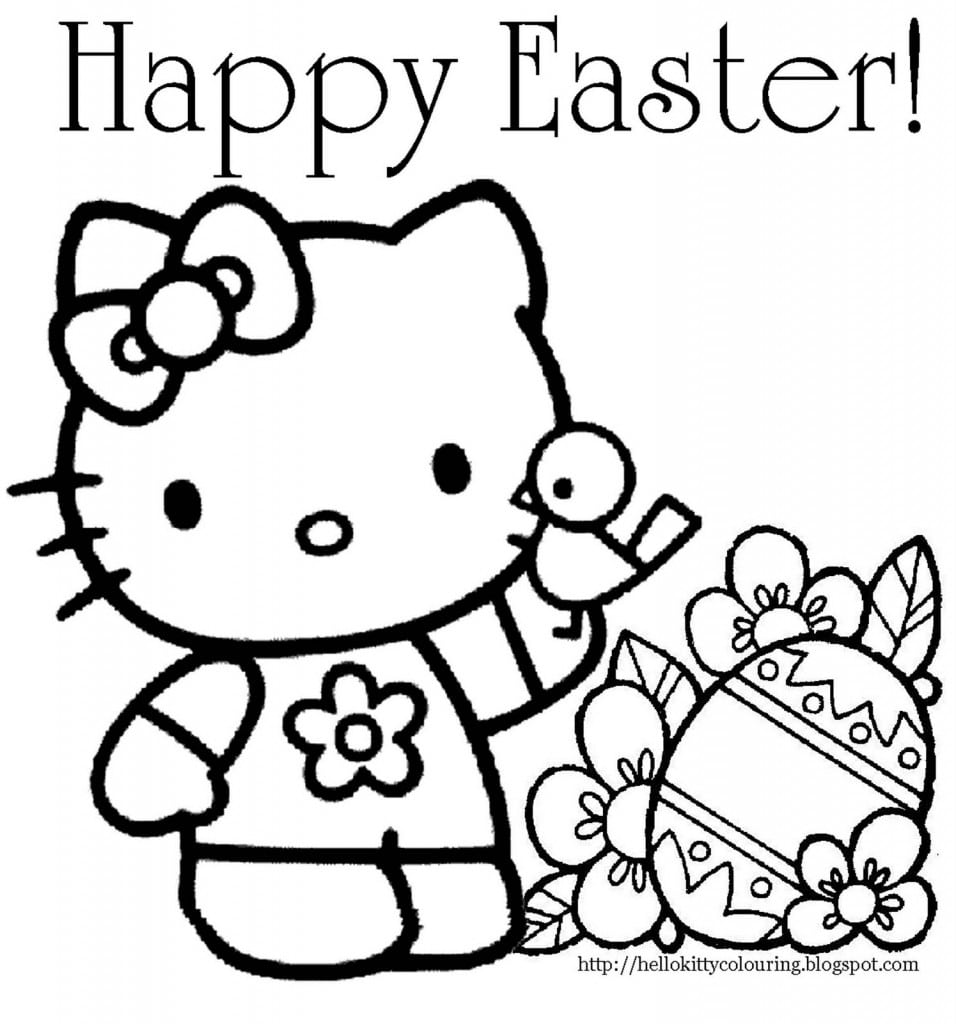 24 Printable Easter Coloring Pages