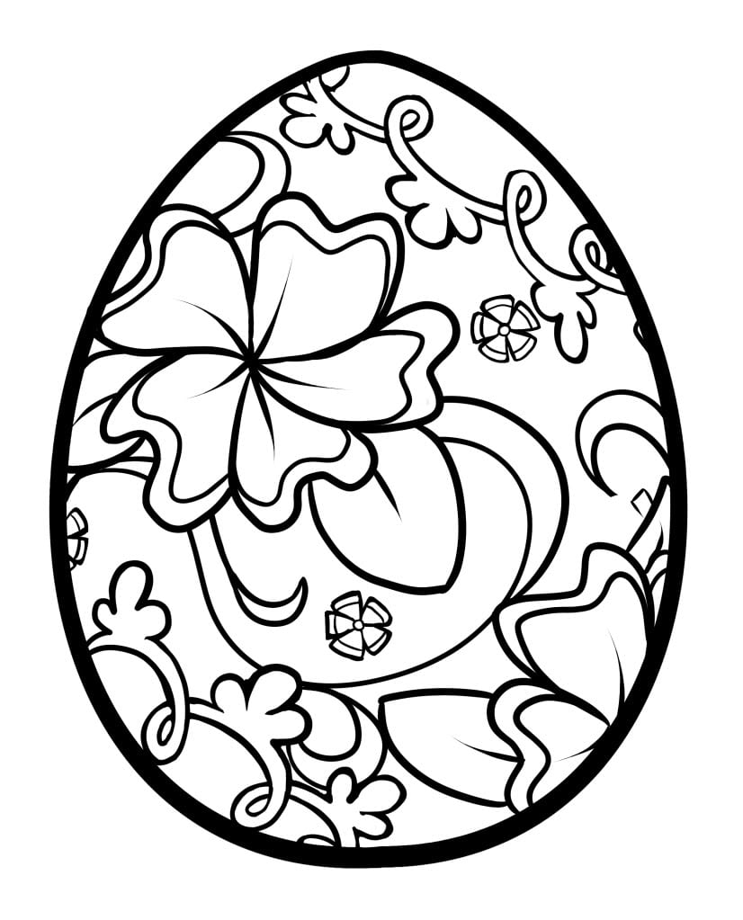 Easter Egg Coloring Pages Wi And With Top Best Easter Coloring