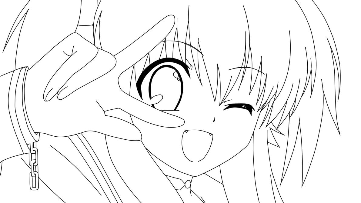 20 Anime Girl Coloring Pages To Print, Angel Coloring Pages For