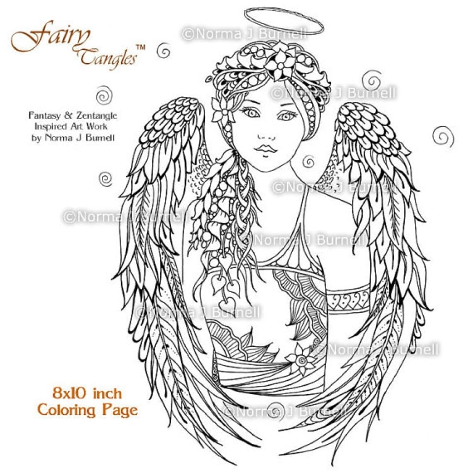 Get This Free Printable Angel Coloring Pages For Adults Rdc754 !