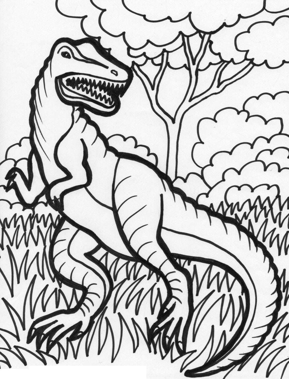 36 Dinosaur Coloring Pages For Kids, Dinosaur Coloring Pages Free