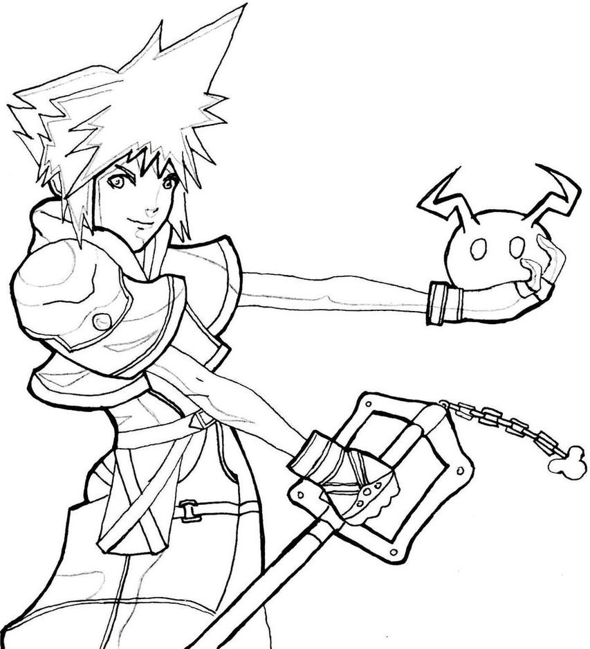 Printable Kingdom Hearts Coloring Pages