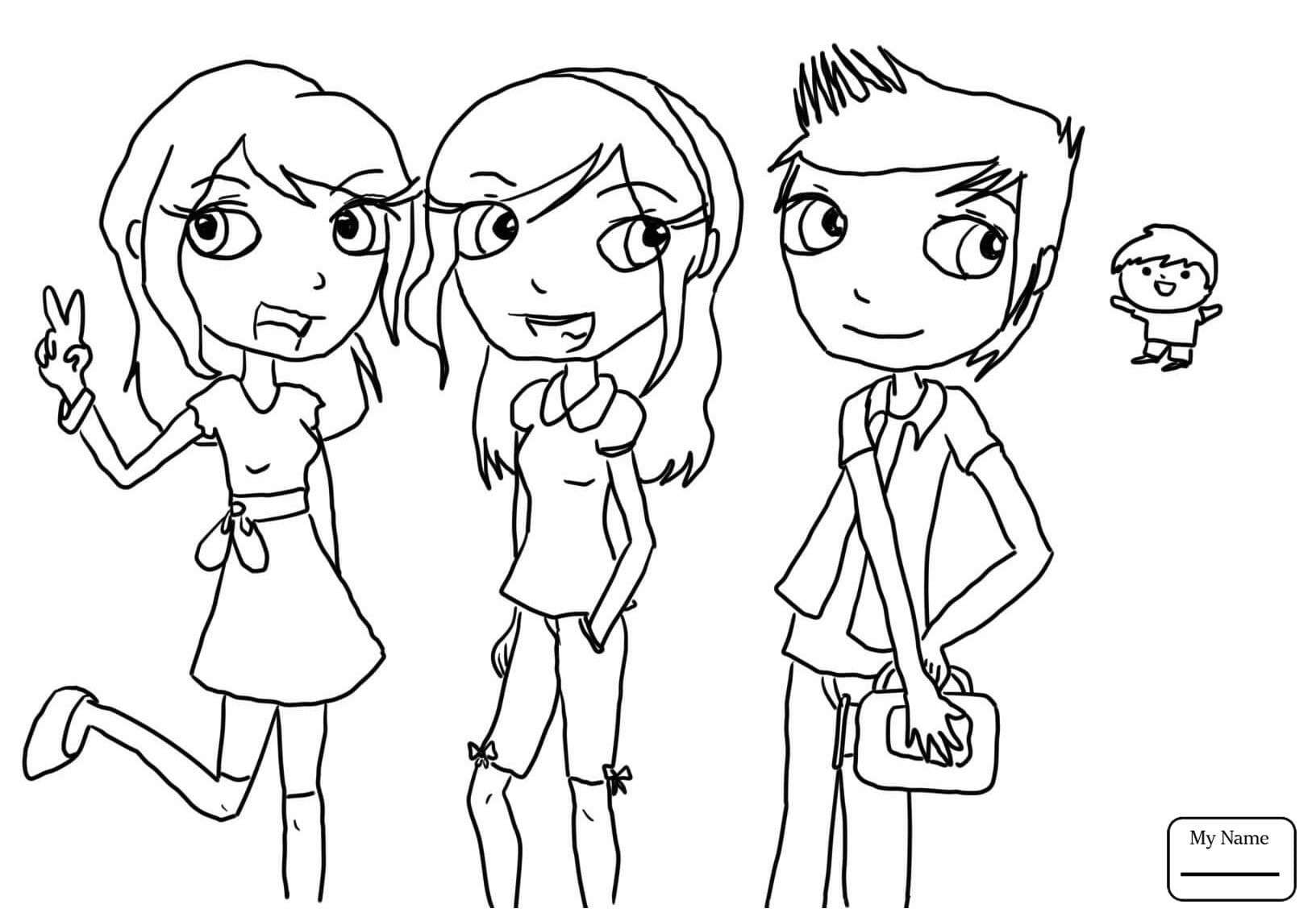 Gibby Freddie Sam And Carla Icarly Cartoons Icarly Coloring Pages