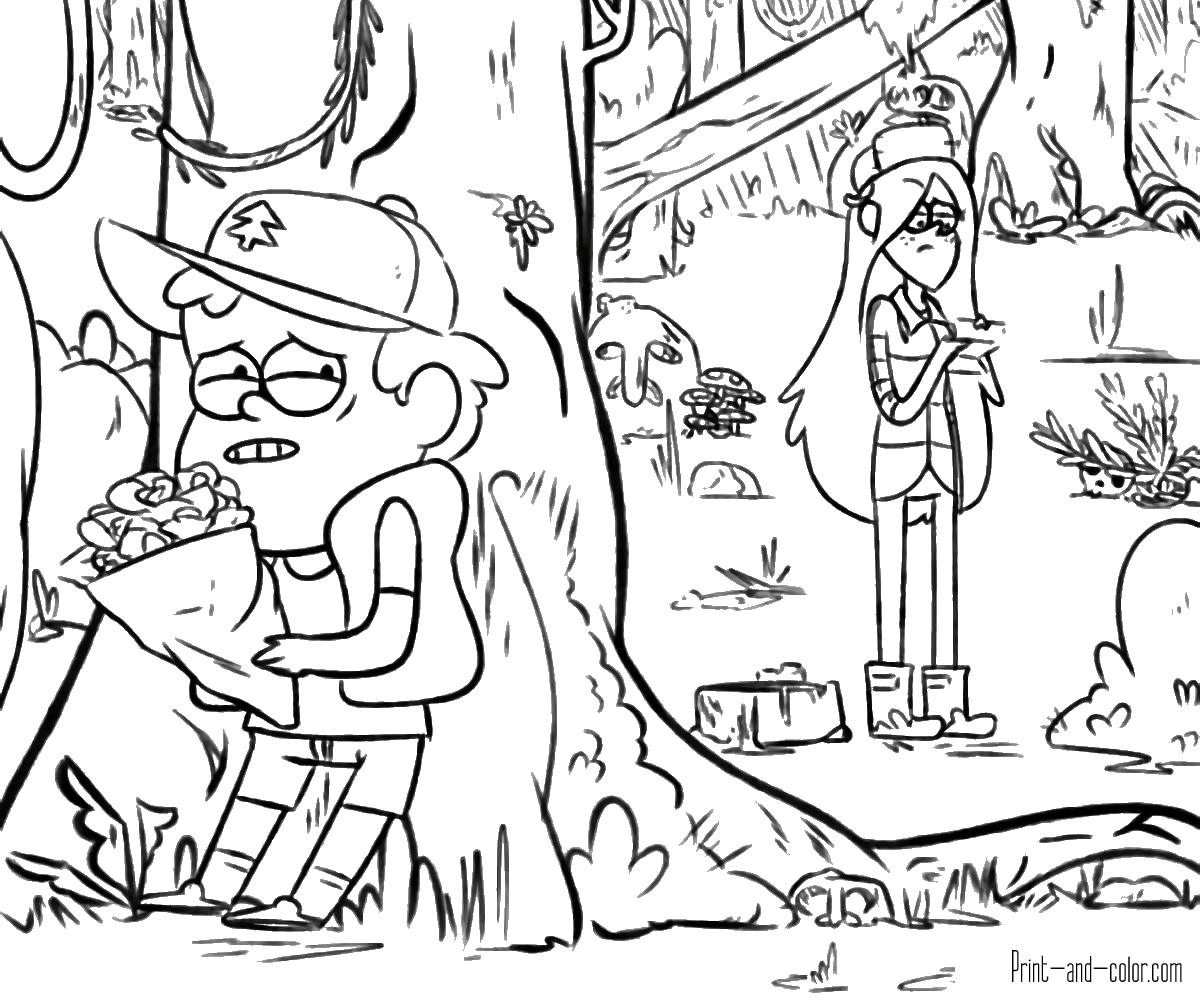 Gravity Falls Coloring Pages – NEO Coloring