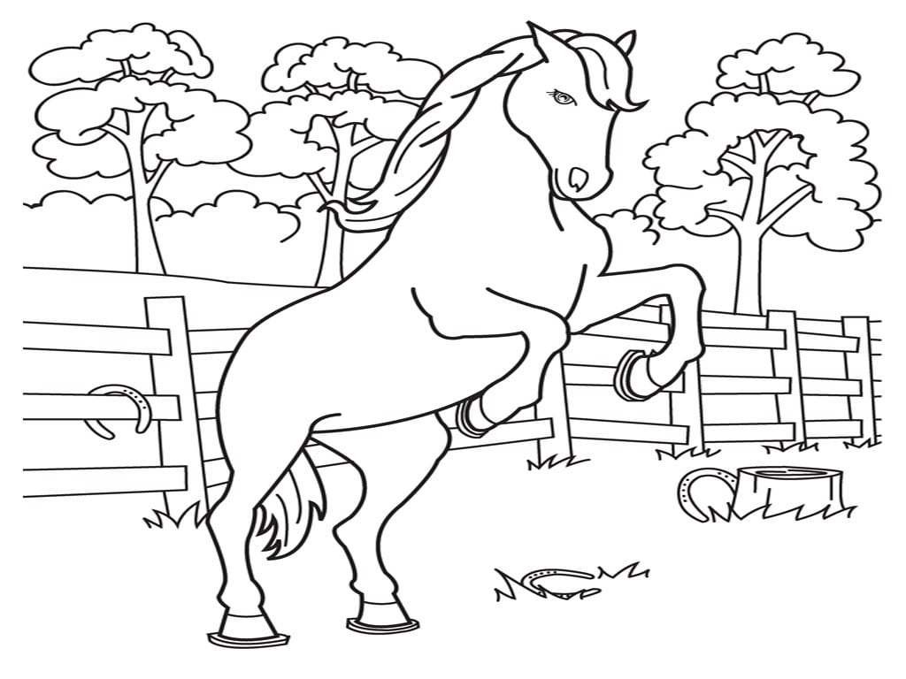 35 Printable Horse Coloring Pages, Printable 16 Wild Horse