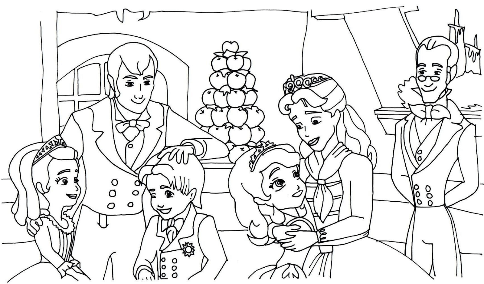 sofia the first coloring pages to print - Master Coloring Pages