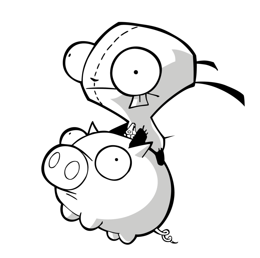 Invader Zim Gir Coloring Pages To Print 429627