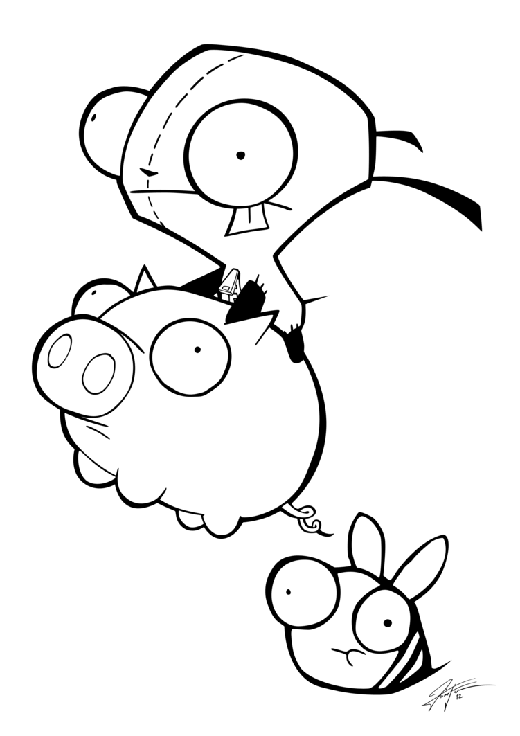 Invader Zim Gir Coloring Pages To Print 429593
