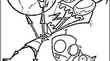 Gir Coloring Pages