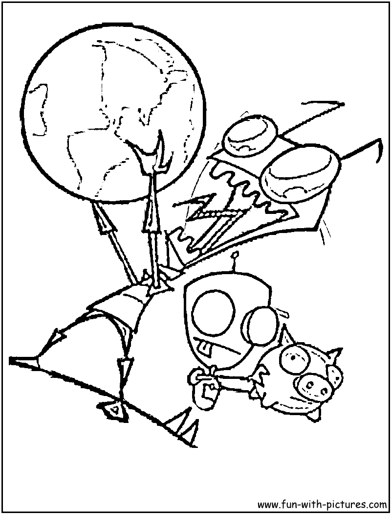 Invader Zim Gir Coloring Pages To Print 429599