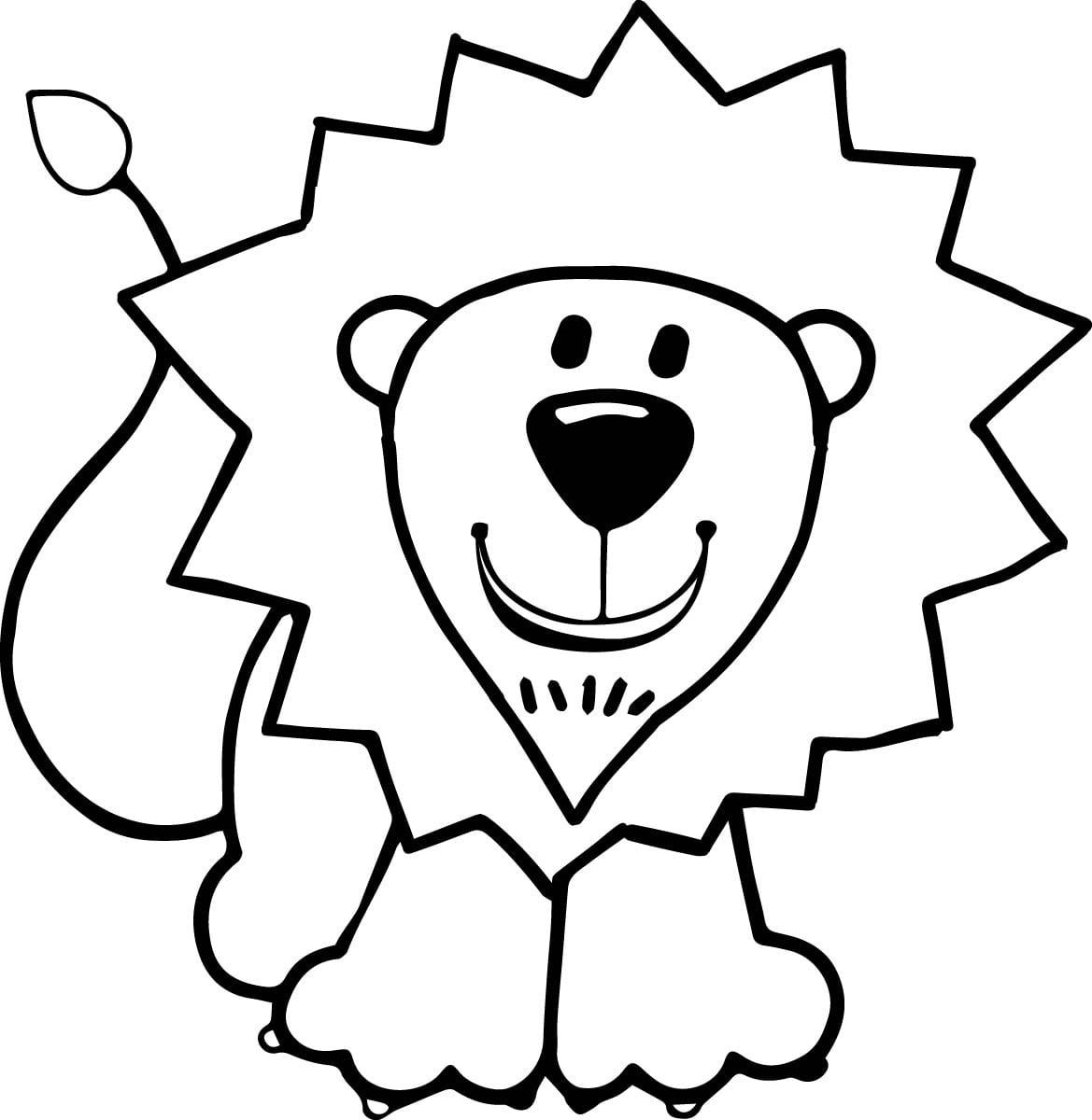 Kids Lion Coloring Page