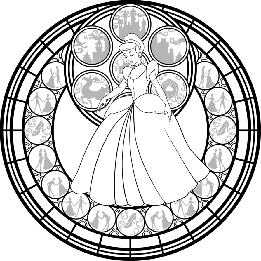 Kingdom Hearts Coloring Pages Stained Glass 19327