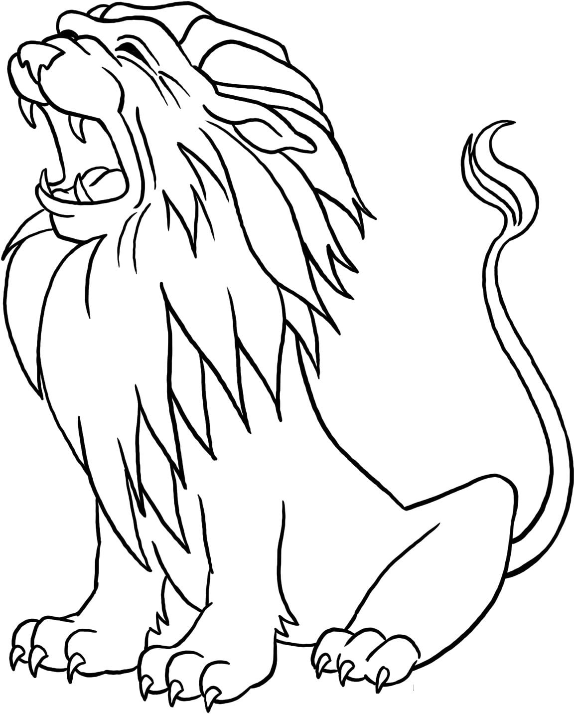 4 Coloring Page Lion, African Lion Coloring Page Free Printable
