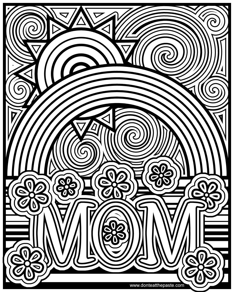 Don't Eat The Paste  Mom Coloring Page
