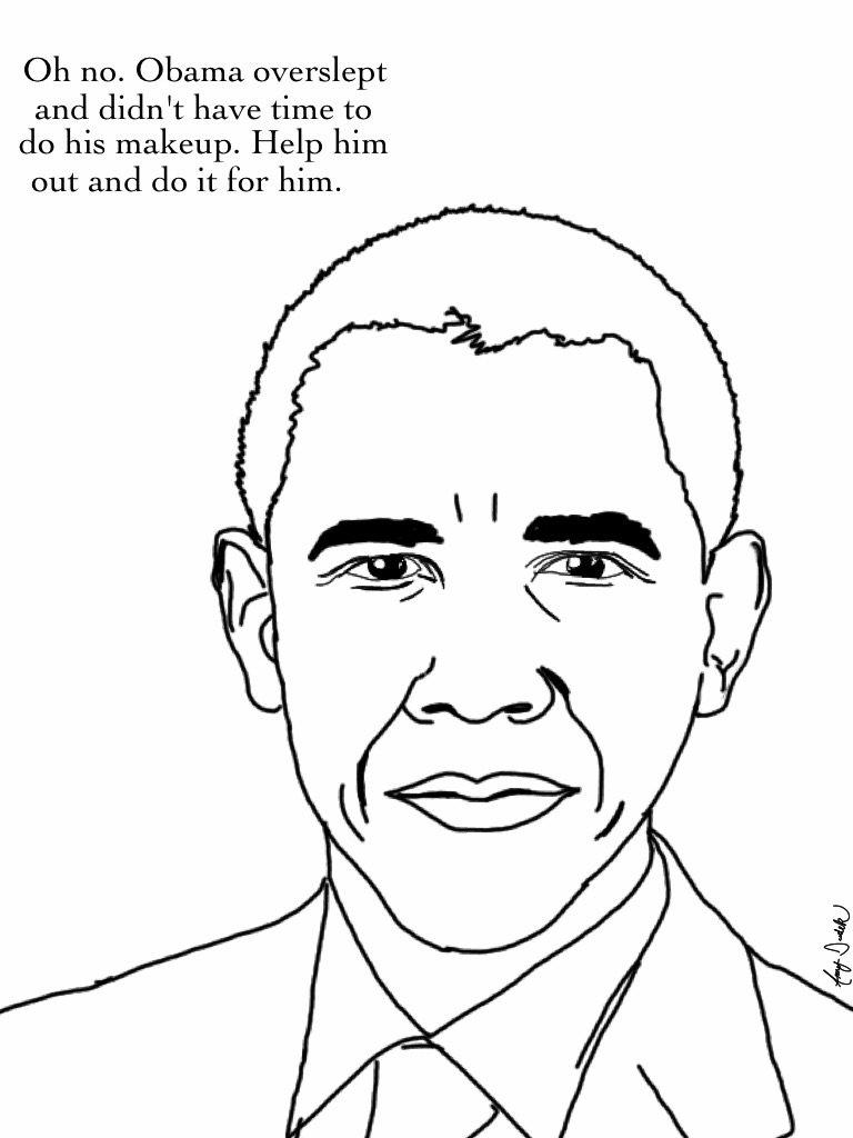 Barack Obama Scoloring Pages Printable Barack Best Free