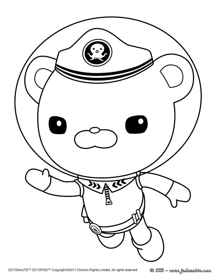Captain Barnacles Octonauts Coloring Pages