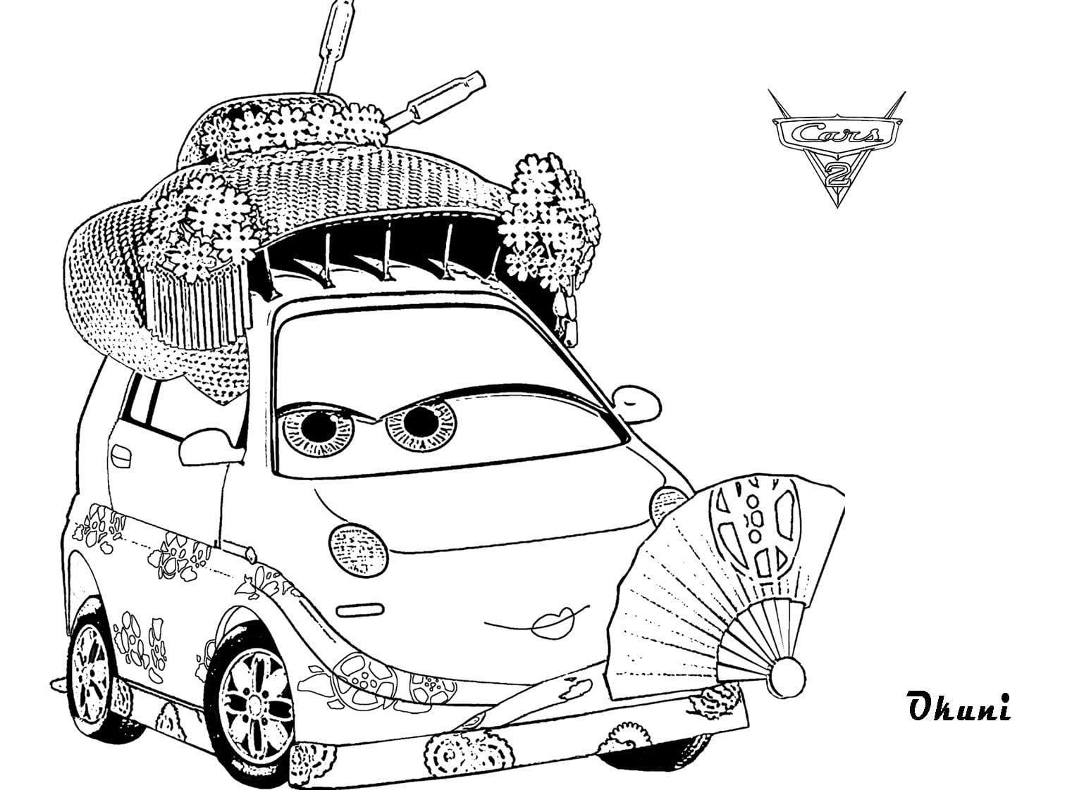 Okuni Coloring Pages For Kids Cars 2