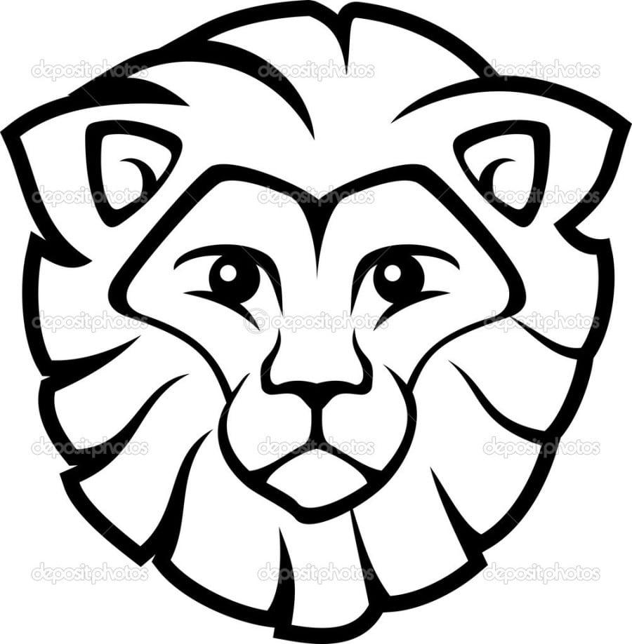 Lion Face Coloring Page