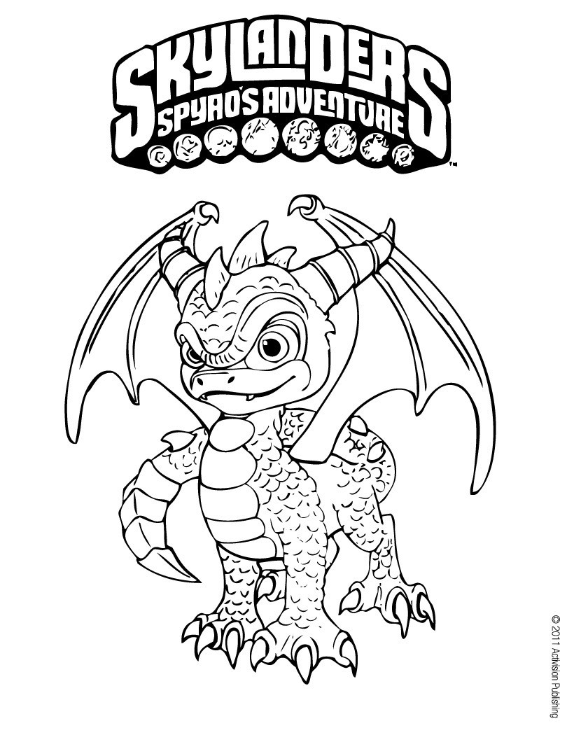 Skylanders Coloring Pages Spiro's Adventure