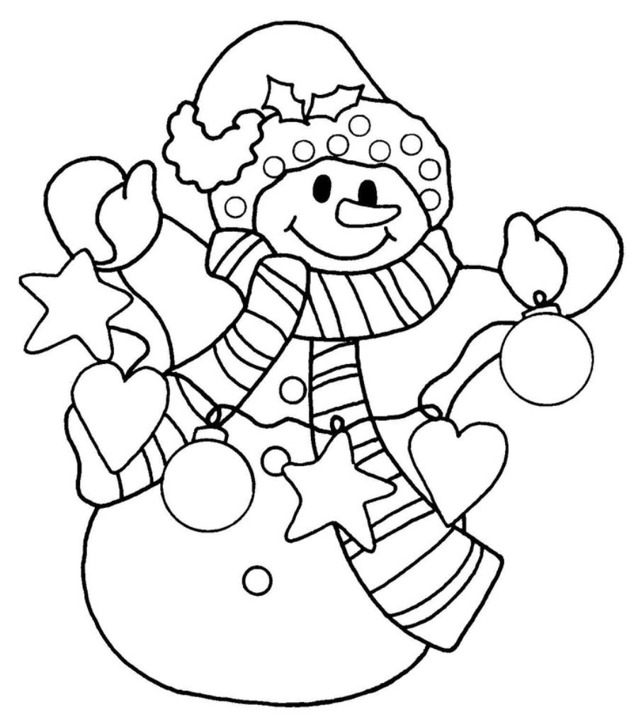 Snowman Coloring Pages To Print Coloringstar At