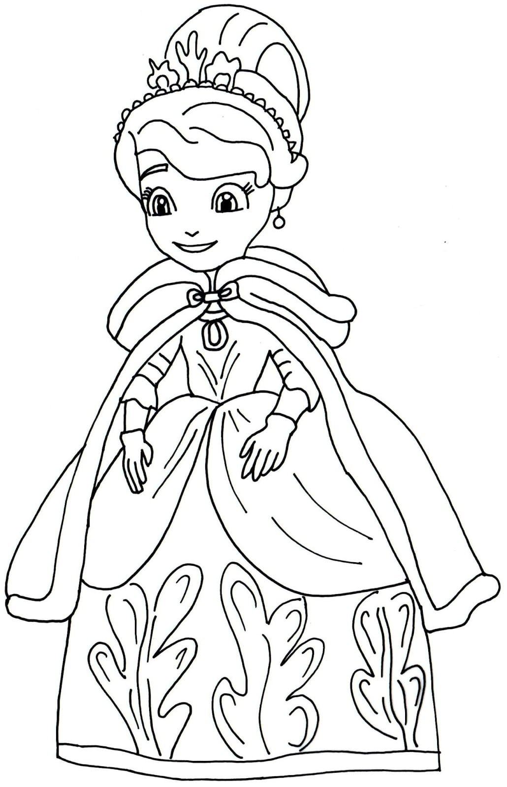 9 Sofia The First Coloring Pages, Disney Sofia The First Coloring