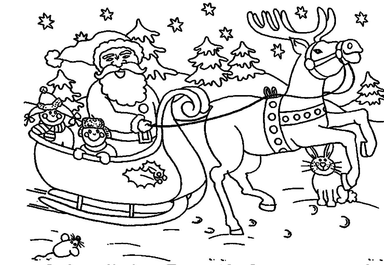 Stunning Christmas Santa Coloring Pictures Uhxngexh For Santa