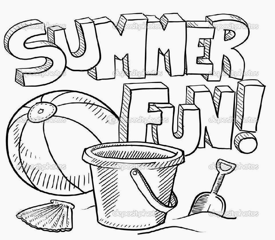 Printable Coloring Pages Summer  Summer Coloring Sheets Free