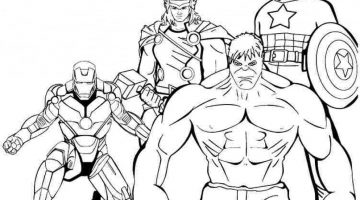 Superhero Colouring Pages