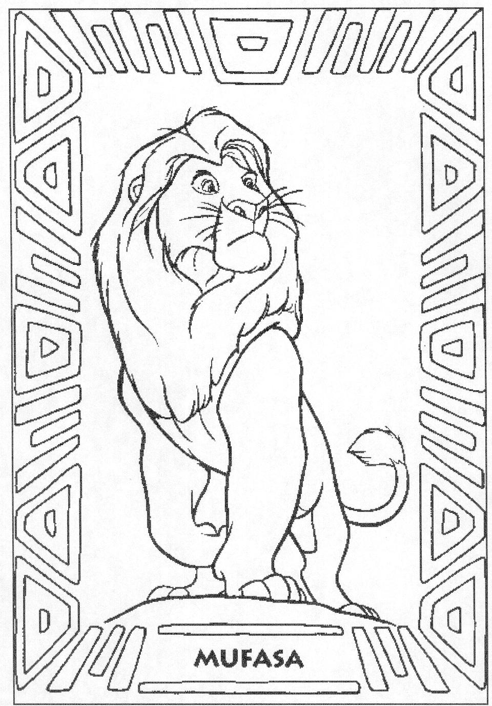 The Lion King Coloring Pages Mufasa