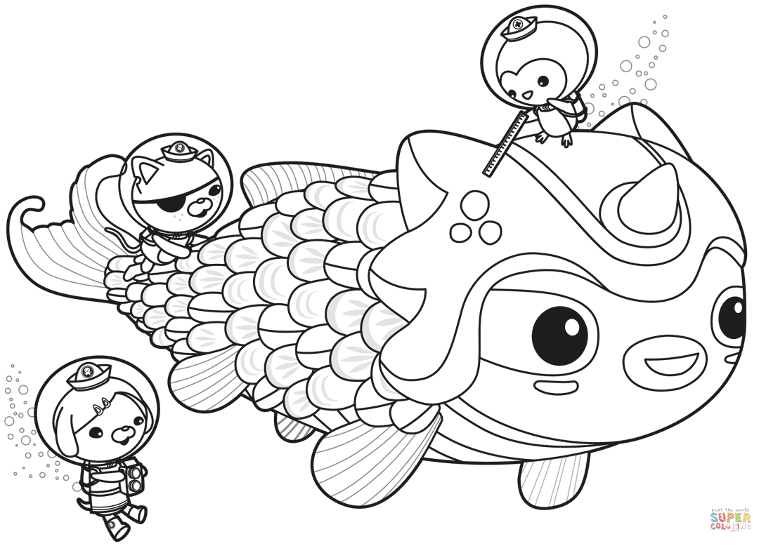 The Octonauts Meet Dunkie Coloring Page