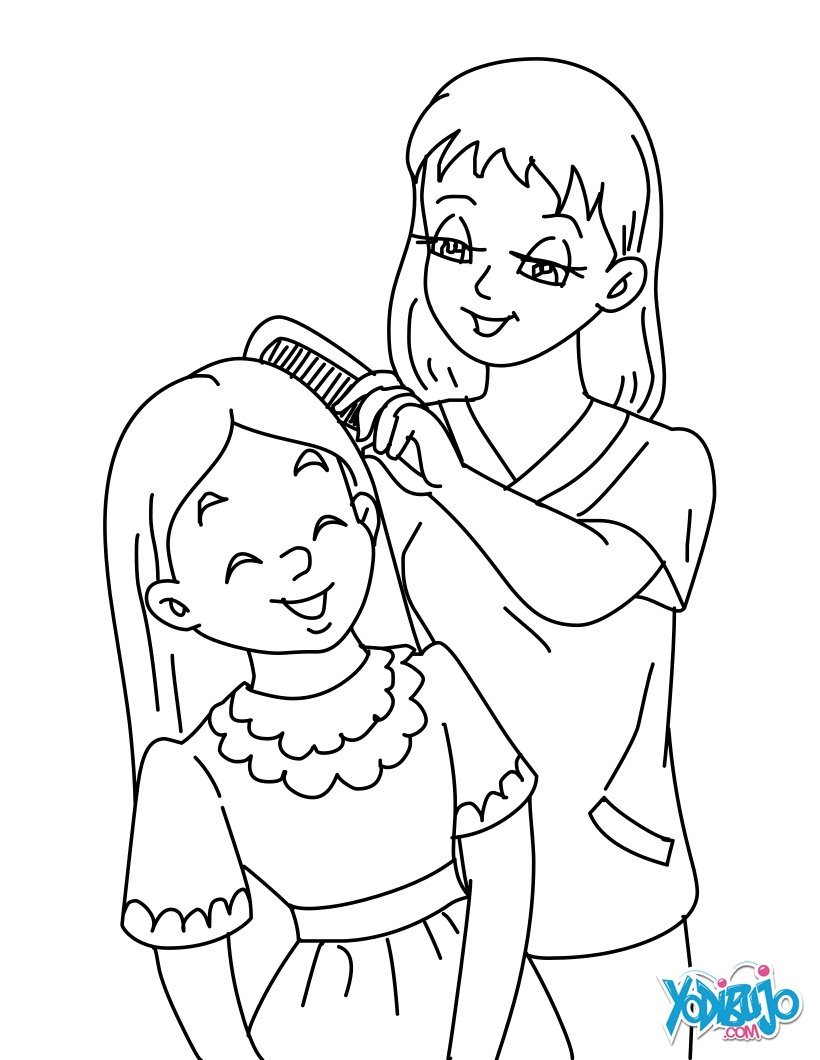 Unique Mom Coloring Pages Coloring Design Gall  8734