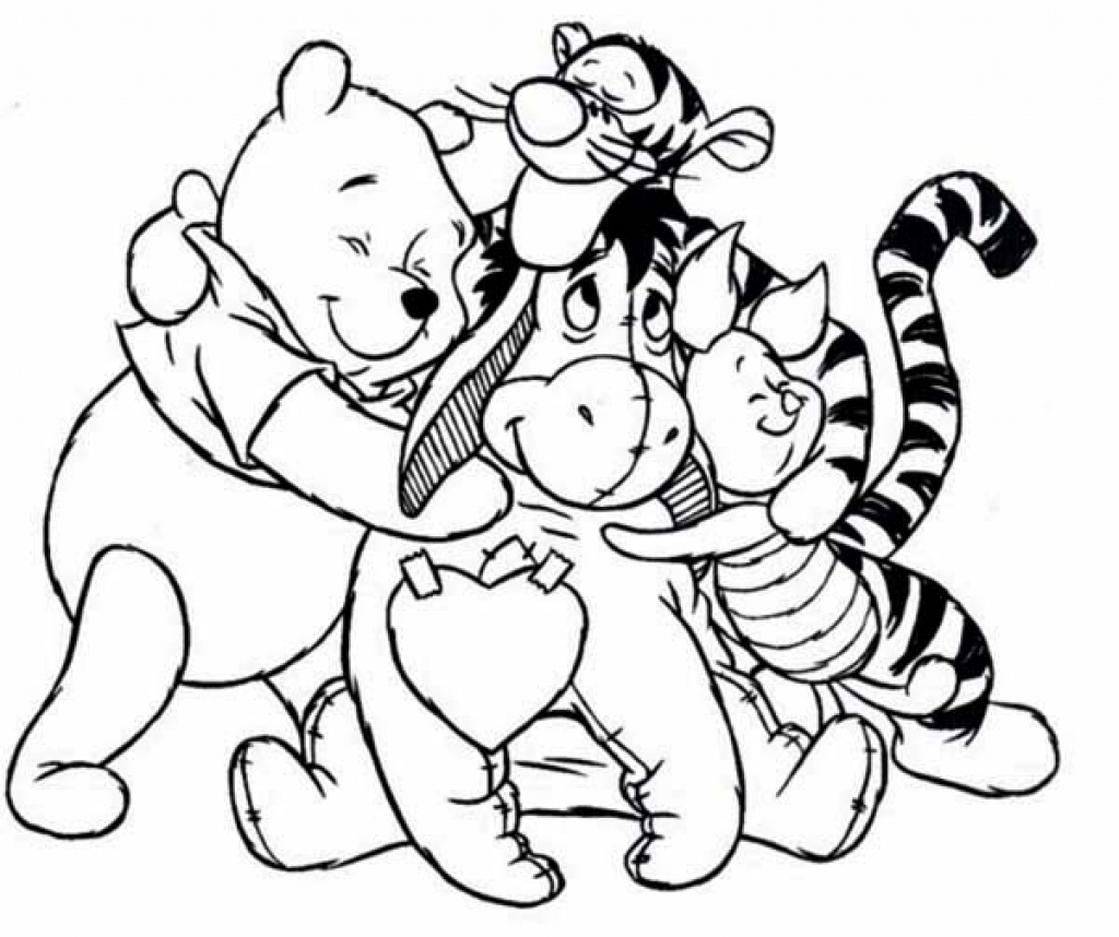 Top Cute Winnie The Pooh Coloring Pages