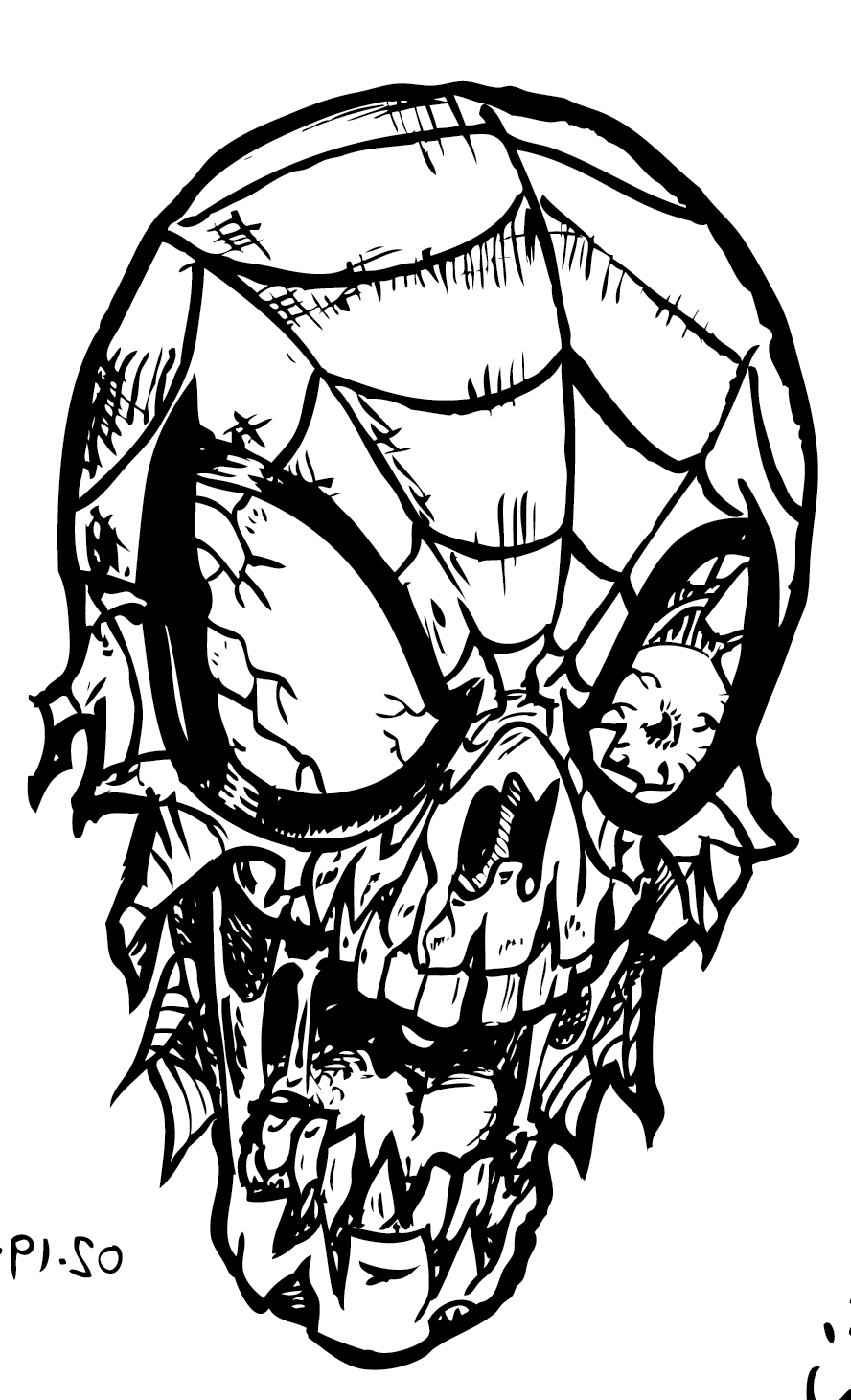 Zombie Coloring Pages Spiderman