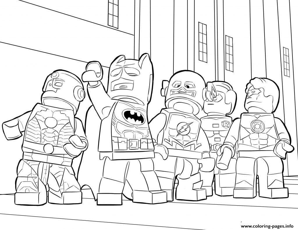 1487370295lego Batman Ironman Flash To Lego Movie Coloring Page