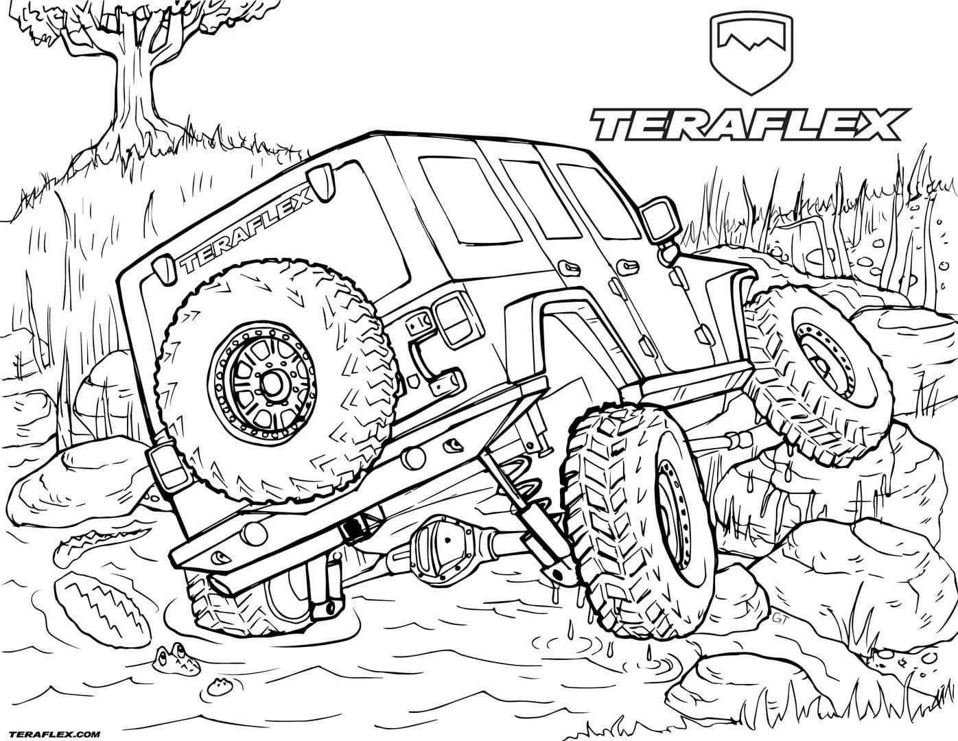 Jeep Coloring Pages - NEO Coloring