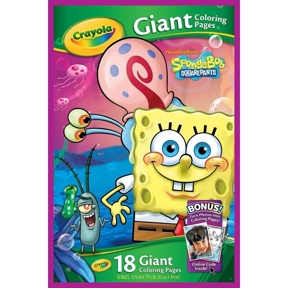 Amazon Com  Crayola Giant Coloring Pages Spongebob Squarepants