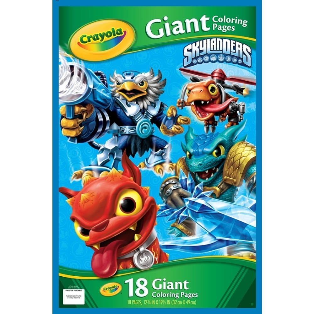 Amazon Com  Crayola Skylanders Giant Coloring Pages  Toys & Games