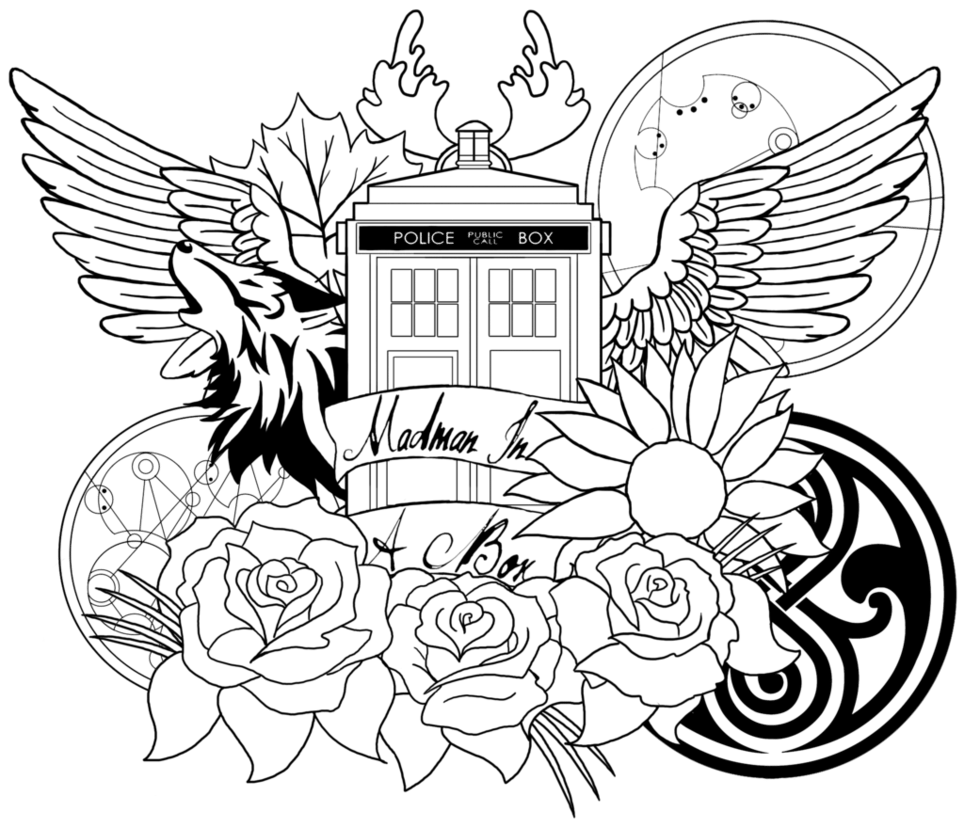 7 Free Doctor Who Fan Art Coloring Books Plus Bonus And Dr Pages